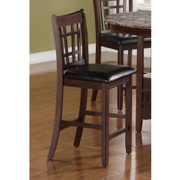 "Lavon Dark Brown 24"" Bar Stool Set of 2"