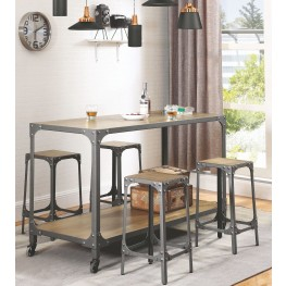 Gunmetal Chrome Powder Kitchen Island Set