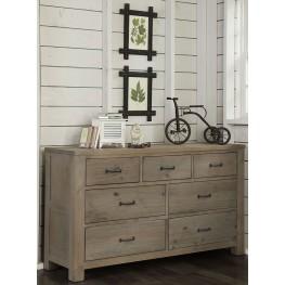 Highlands Driftwood 7 Drawer Dresser