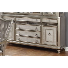 Danette Metallic Platinum Drawer Server