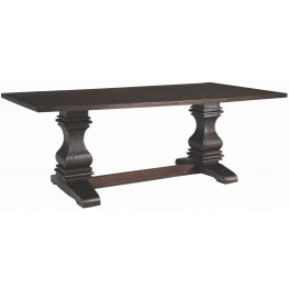 Parkins Rustic Espresso Rectangular Dining Table