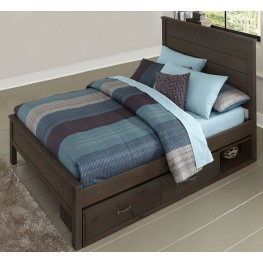 Highlands Alex Espresso Full Panel Storage Bed
