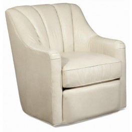 Fitzgerald Fairview Stone Swivel Leather Chair