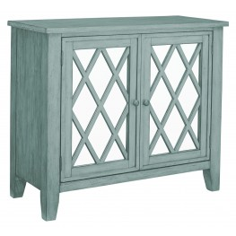 Vintage Antique Blue Accent Console