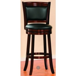 Shapel Cherry Swivel Counter Height Chair Set of 2