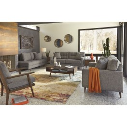 Zardoni Charcoal Living Room Set