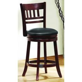 Edmond Swivel Dark cherry Counter Height Chair Set of 2
