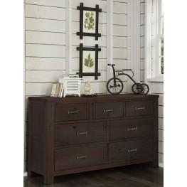 Highlands Espresso 7 Drawer Dresser