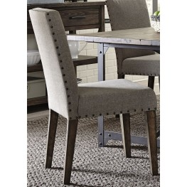 Caldwell Brown Upholstered Side Chair Set of 2