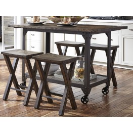 Caldwell Brown Counter Height Dining Room Set
