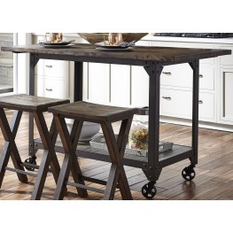 Caldwell Brown Kitchen Island