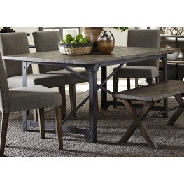 Caldwell Brown Trestle Dining Table