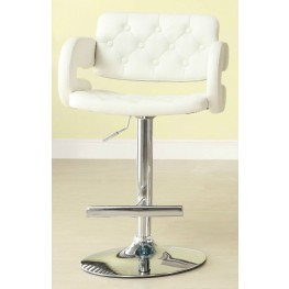 Ride White Airlift Swivel Stool Set of 2