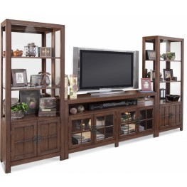 Color Time Saybrook Chestnut Entertainment Wall