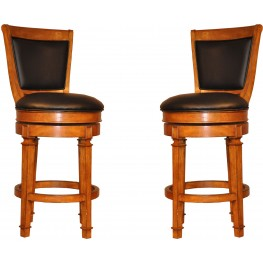 "Monticello 30"" Burnished Oak Pub Stool Set of 2"