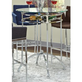 Chrome Bar Table 120335