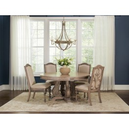 Ilanadining Antique Linen Round Dining Room Set
