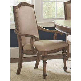 Ilana Cream and Antique Linen Arm Chair Set of 2