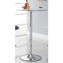 "Black 36"" LED Bar Table"