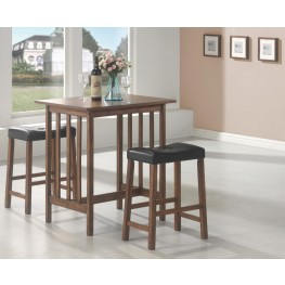 3 piece kitchen table table stool black piece counter height dining dinette set 130004 room sets formal sets glass tables and more home