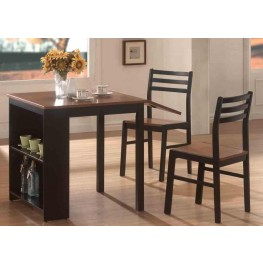 Mix U0026 Match Walnut/Black Two Tone 3 Piece Breakfast Set · By Coaster  Furniture