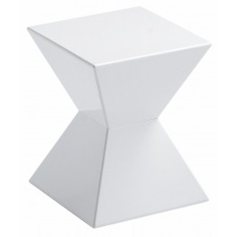 Rocco White End Table