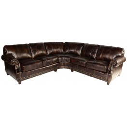 Anna Toberlone Leather Sectional