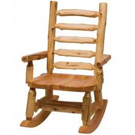Cedar Contoured Seat Rocking Chair