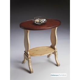 Vanilla & Cherry Oval Accent Table