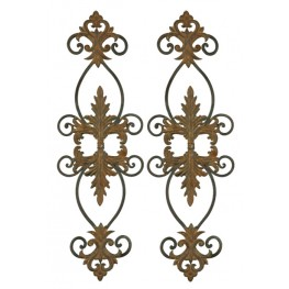 Lacole Rustic Metal Wall Art, Set of 2