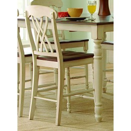 Ohana 2 Tone Counter Height Chair Set of 2
