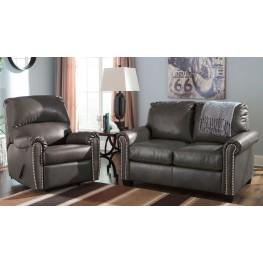 Lottie DuraBlend Slate Living Room Set