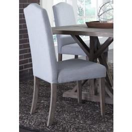 Carolina Lakes Light Aqua Upholstered Side Chair Set of 2