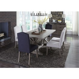 Carolina Lakes Gray Trestle Dining Room Set