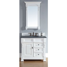 "Brookfield 36"" Cottage White Single 2Cm Top Vanity"