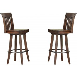 "Gettysburg 30"" Dark Distressed Barstool Set of 2"