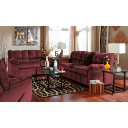 Julson Burgundy Living Room Set