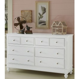 Lake House White 8 Drawer Dresser
