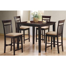 5 Pcs Black Counter Height Dining Set 150231BLK