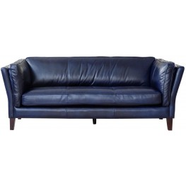 Alberta Charcoal Vintage Leather Sofa