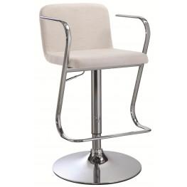 121091 Upholstered Adjustable Bar Stool