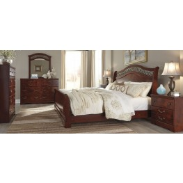 Delianna Brown Sleigh Bedroom Set