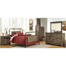 Trinell Brown Metal Youth Panel Bedroom Set
