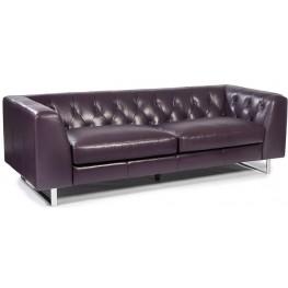 Porto Plum Leather Sofa