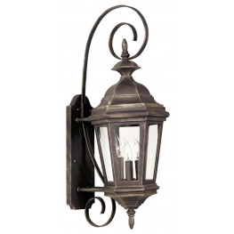 Estate Antique Patina Medium Wall Lantern
