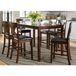 Thornton Russet 7 Piece Gathering Dining Room Set