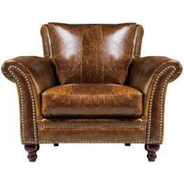 Georgetowne Butler Brown Leather Chair