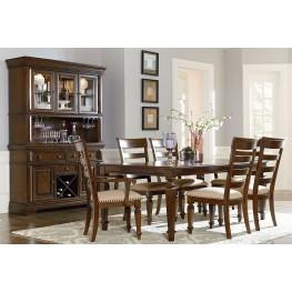 Charleston Tobacco Brown Extendable Rectangular Leg Dining Room Set