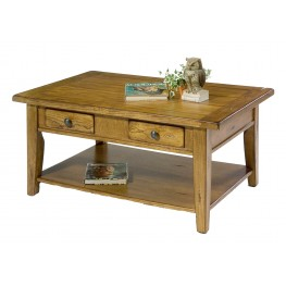 Treasures Oak Rectangular Cocktail Table