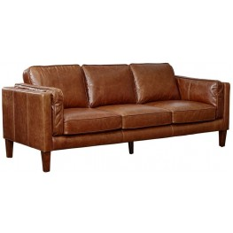Berkley Cocoa Brompton Vintage Leather Sofa